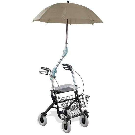 Parasol para andadores y sillas de ruedas Prof - Protección contra el sol y la lluvia, que permite mantener ambas manos en el rolator.