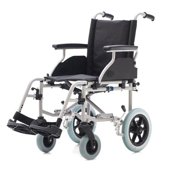 cadeira de rodas 1416SR - Cadeira de rodas em aço com pequenas rodas traseiras r315