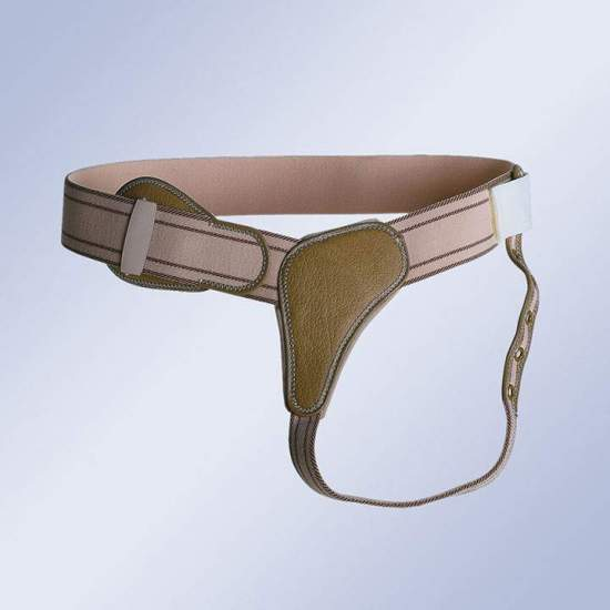 BRAGUERO REFORZADO CON CIERRE DE HEBILLA  BH-110 / DH-111 / IH-112 - Elastic belt with buckle closure, anatomical pads larger than the velcro trusses, which extend with straps under buttocks and attached to the sides.