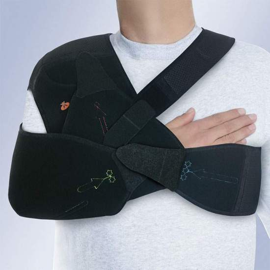 TYPE SHOULDER IMMOBILISER AMBIDIESTRO Velpeau ORLIMAN - The orthosis Velpeau C-44, indicated in the conservative treatment of humeral neck fractures.