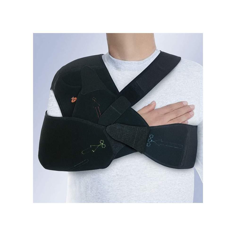 Tipo de ombro Imobilizador AMBIDIESTRO Velpeau Orliman - A órtese Velpeau C-44, indicado no tratamento conservador das fraturas do colo do úmero.