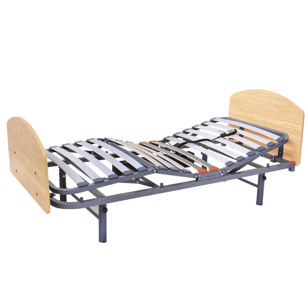 Cama Geria de 4 planos - 90 x 190 cms - Cama sanitaria eléctrica articulada medidas 90 cm x 190 cm