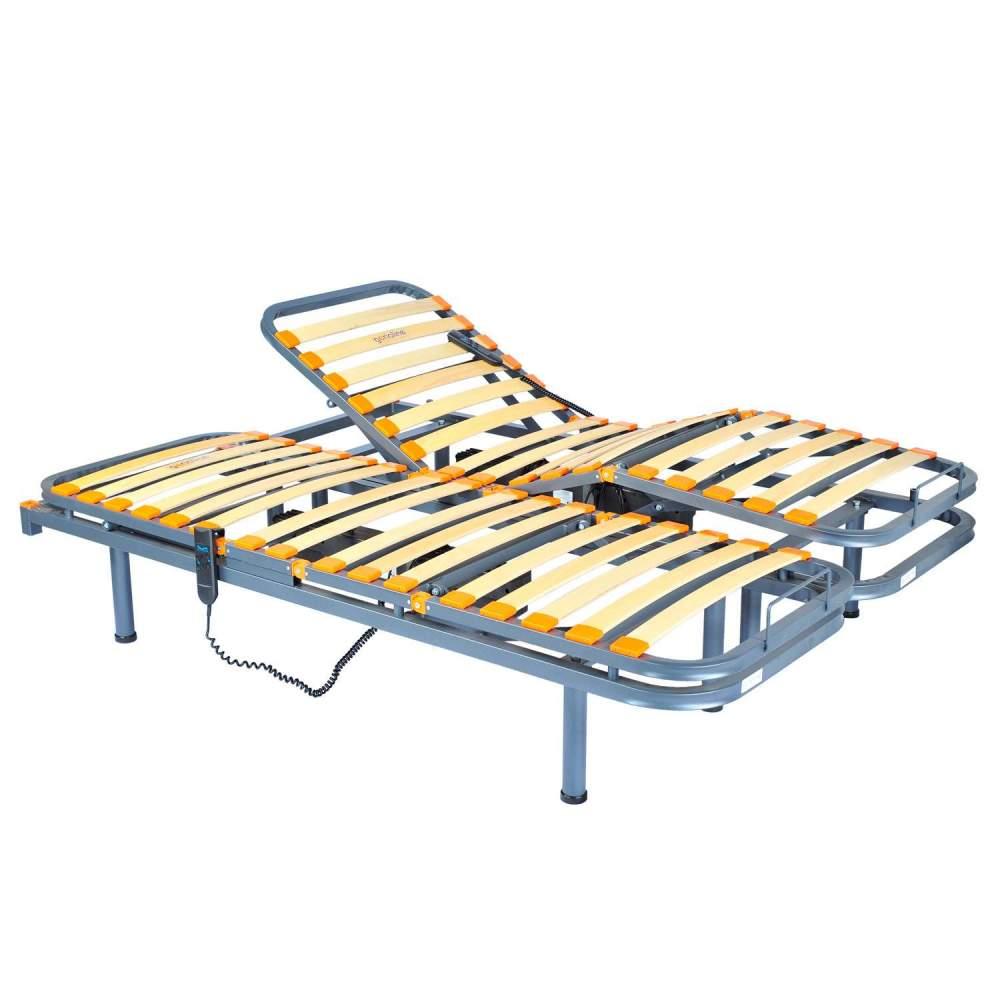 Geria de 4 planos - Doble - Cama sanitaria eléctrica articulada medidas75 cm x 190 cm x 2 camas