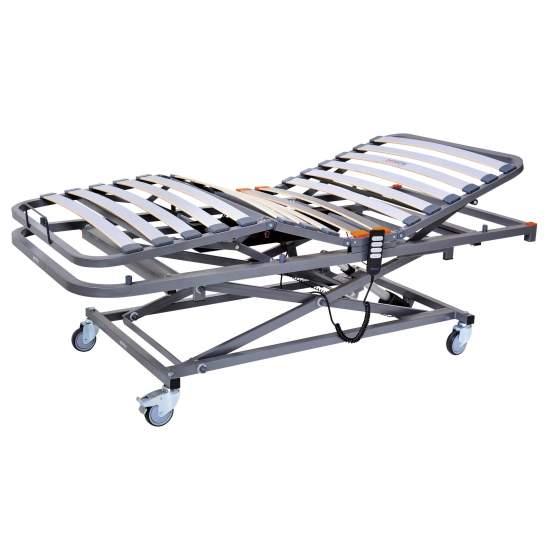 Cama Gerialift de 4 planos y elevación - 90 x 190 cms - Cama articulada y con carro elevación eléctrica medidas 90 cm x 190 cm