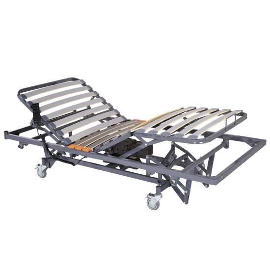 Letto elettrico Carelift con altezza di 90 x 190 cm - Letto sanitario con articolazione e alzata elettronica per manovelle di 90 x 190 cm