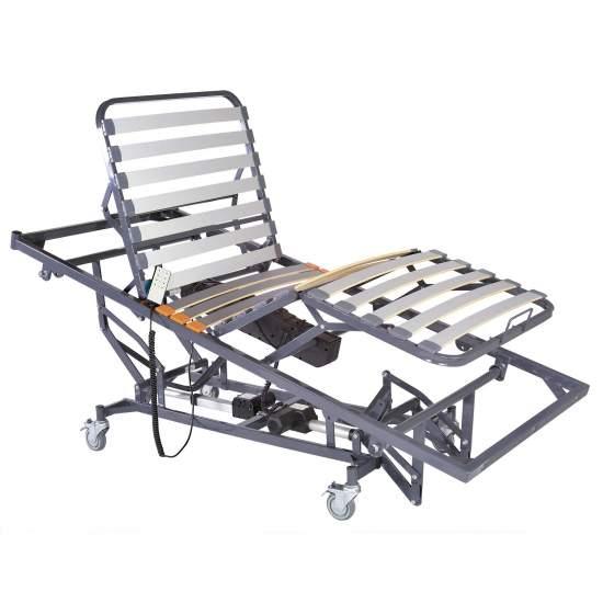 Cama electrica Caretrend con elevación y Trend-Antitrendelemburg - Letto sanitario con articolazione e alzata elettronica per manovelle di 90 x 190 cm
