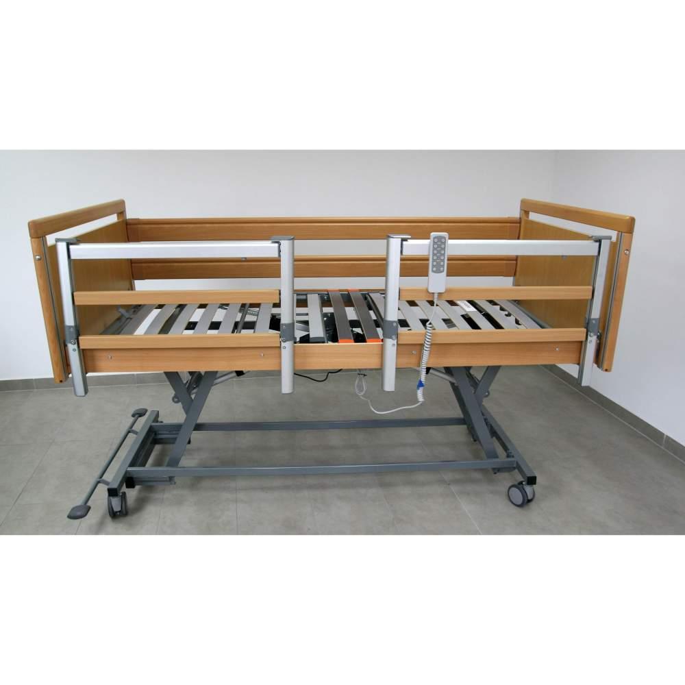 Geria Low cama para Alzheimer - Cama articulada y con carro elevación eléctrica medidas 90 cm x 190 cm