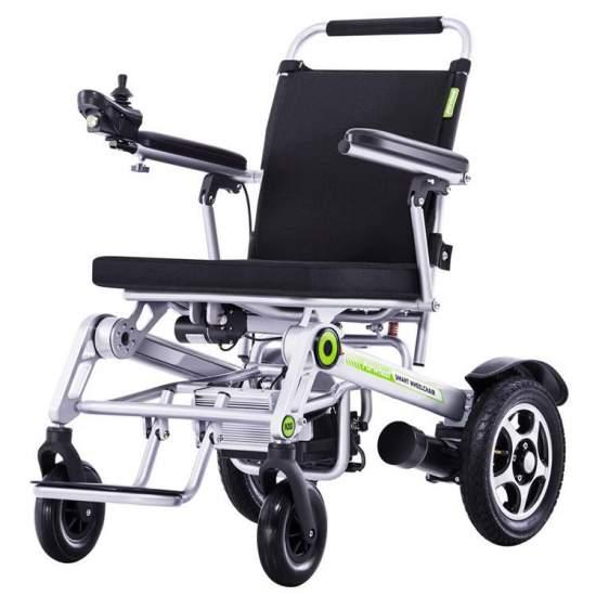 Silla de ruedas electrica de aluminio H3S - La nueva silla H3S con plegado automático la podrás controlar a través de tu smartphone y con un peso máximo soportado de hasta 130 kg. es una de las silla de ruedas de aluminio plegables líderes de su sector. Es una silla sencillamente...