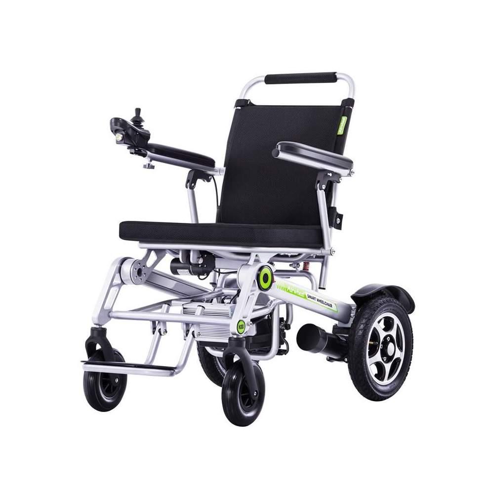 Silla de ruedas electrica de aluminio H3S - La nueva silla H3S con plegado automático la podrás controlar a través de tu smartphone y con un peso máximo soportado de hasta 130 kg. es una de las silla de ruedas de aluminio...