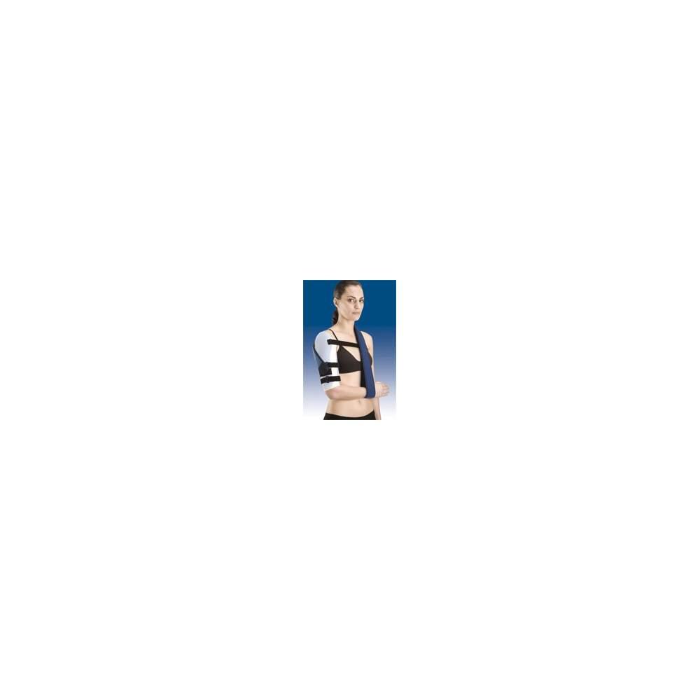 BRACE DE HÚMERO EN TERMOPLÁSTICO TP-6400 - Ortesis de húmero bivalva termoconformada en polietileno de baja densidad, cinchas de regulación en velour y sistema de cierre con microgancho que se puede recortar según la...