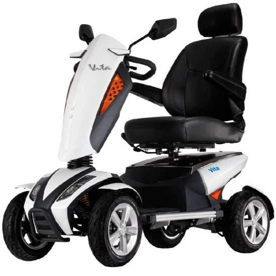 Scooter i Vita di Apex - Scooter i-Vita.Motore da 700 W a batterie 5100rpm e 80Ah. Sospensione a doppio asse incorporata.