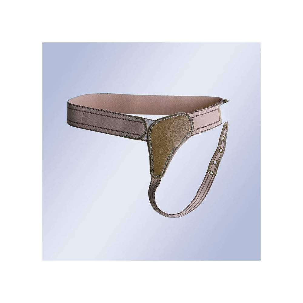 BRAGUERO REFORZADO CON CIERRE DE VELCRO B-110 / D-111 / I-112 - Elastic strap with Velcro closure, anatomical pads with straps extending under buttocks and attached to the sides.