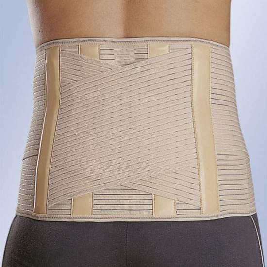 "FAJA ""LUMBITRON STABLE"" SACROLUMBAR LTB-284 - Stretch, stays in the back, velcro closure."