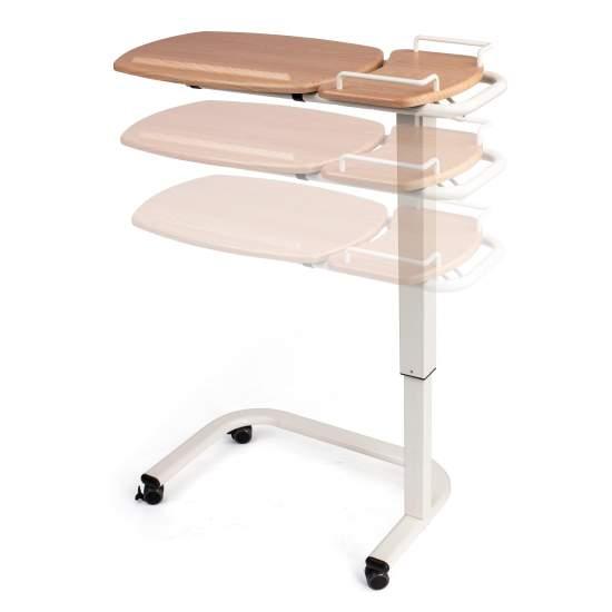 Comodino idraulico Milano - Tavolo idraulico con base a forma di U.Possibilità di regolare l'altezza: 79-114 cm.