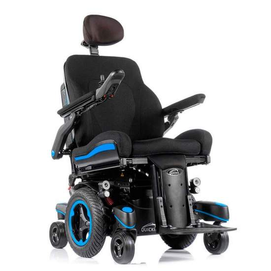Electric wheelchair Q700 M SEDEO Ergo - Electric wheelchair with central traction Enjoy the ultimate driving experience with the Q700 M, The most advanced electric wheelchairs with central traction! SpiderTrac ™ 2.0 suspension system, SEDEO ERGO seat with biometric movement...