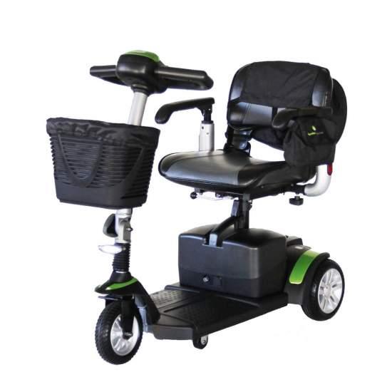 Scooter 3 roues Eclipse Plus + - LeECLIPSE + scootermaintenant en version 3 roues. Il offre d'excellentes finitions et un équipement standard exceptionnel. Il intègre un sac amovible avec poignée.