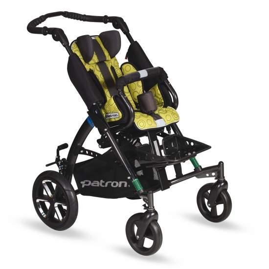 Sedia Tom 5 di Patron -  Patron offre la versione rinnovata del passeggino popolare Tom 5, con un'estetica speciale in chassis nero, ruote di 265 millimetri mazzi posteriori solidi di speciale disegno e rivestimento con più colore, per chi ama la moda.