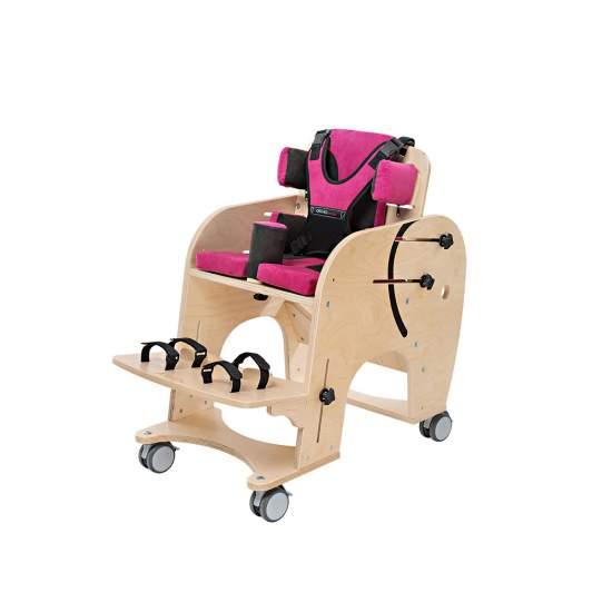 Silla Jumbo - La silla de rehabilitación Jumbo ha sido diseñada para iniciar la sedestación, con 3 tallas puede utilizarse desdeatención temprana hasta pacientes de 75 kg.