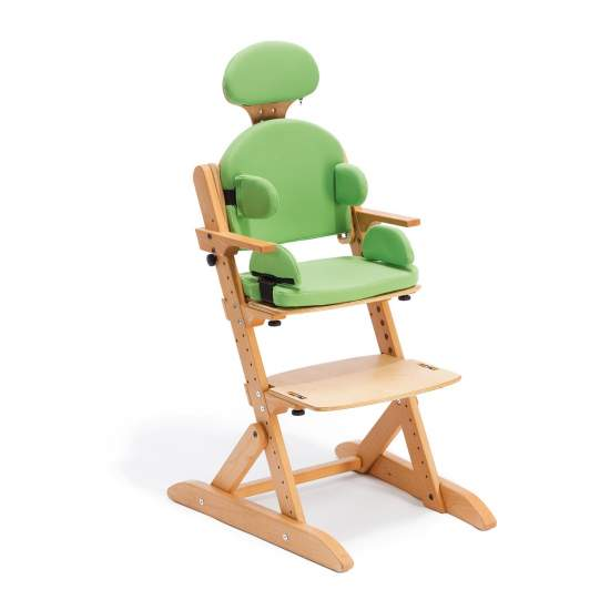 Smilla chair - Smilla is adapted to the child's growth, thanks to the resolution of the seat depth, back height and base of the footrest.