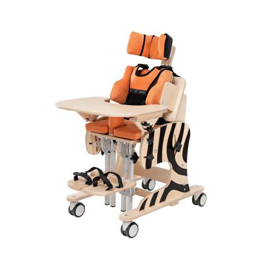 Zebra chair - Zebra rehabilitation chair has been designed from early attention to young people in a sitting position or supine.