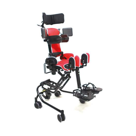 Junior pediatric chair - Junior offers children a wide range of configurations to be active and integrated with the other children. Its unique design provides excellent stability of the pelvis, the ischial hollow and helps prevent the child from sliding down in...