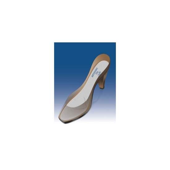 MODÈLES EXTRAFINE SILICONE bordée de belle dame PAD METATARSAL-PL-700F - Flexible semelles en silicone ultrafines avec pad métatarsien qui s'adapte parfaitement aux chaussures pour femmes