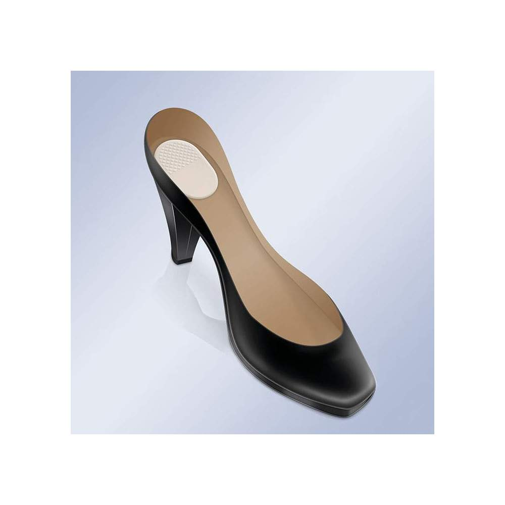 ADHESIVE PADS WITH GEL FOR HEEL PS-23 -  Ultra-thin, non-slip, transparent gel pads that fit comfortably in the back of your shoes to help prevent the burning sensation under your heels.
