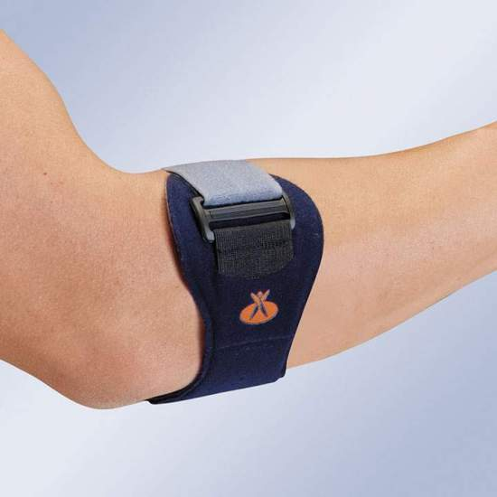 EPITEC EP-20 EPICONDILITIS BRACELET -  Made in velor on both sides and reinforced by a polyethylene core and padding in plastazote. Its closing strap fits on the forearm and returns on itself, allowing an individualized adaptation depending on the pressure exerted thanks to...