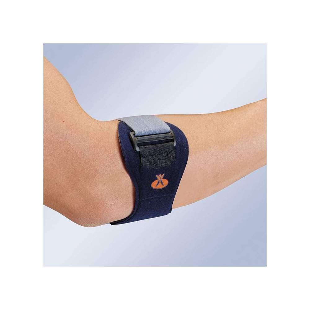 EPITEC EP-20 EPICONDILITIS BRACELET -  Made in velor on both sides and reinforced by a polyethylene core and padding in plastazote. Its closing strap fits on the forearm and returns on itself, allowing an...