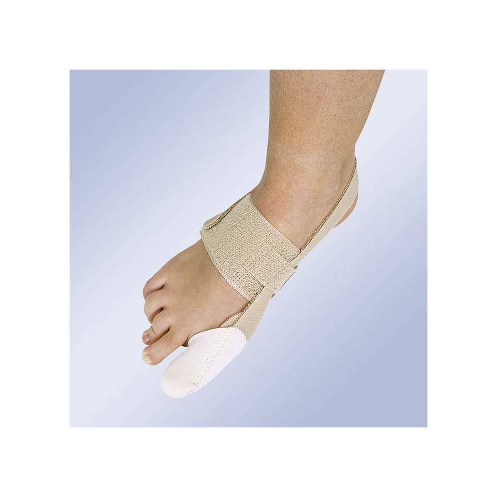 CORRETTORE DI HALLUX-VALGUS DIURNO HV-32 -  Consiste in una fascia elastica attorno al collo del piede e un cappuccio per il primo dito che si estende con una fascia elastica dietro il tendine di Achille e si chiude con...