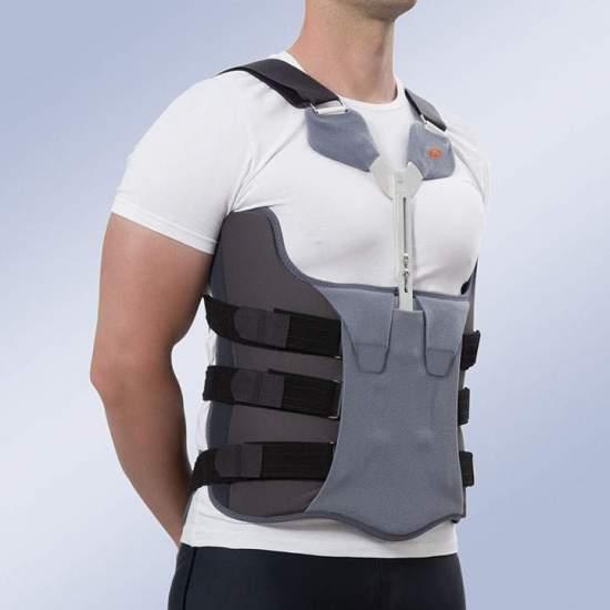 Bivalve corsetto - Corsetto toraco-lombo-sacrale in polietilene a bassa densità di 4 mm e rivestita con tessuto imbottito ...