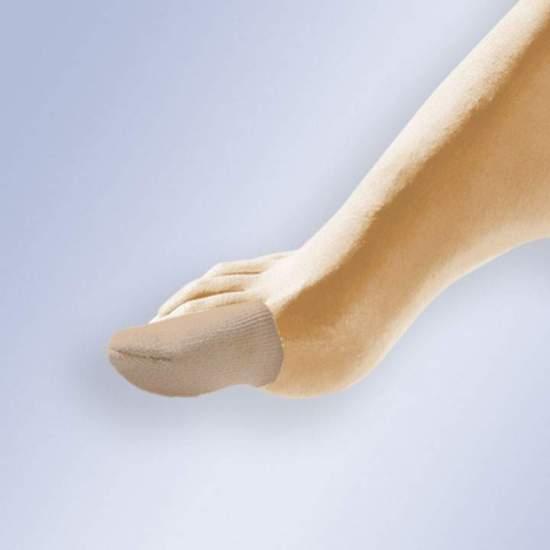 DEDIL NO GEL DE COBERTURA DE TECIDO GL-105 -  Corte tubular em forma de dedo e com um interior de gel polimérico viscoelástico não tóxico, hipoalergênico e dermatologicamente testado que não favorece o crescimento bacteriano.