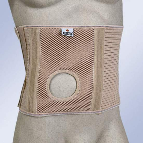 ABDOMINAL BELT FOR OSTOMIZED WITH STOMA HOLE