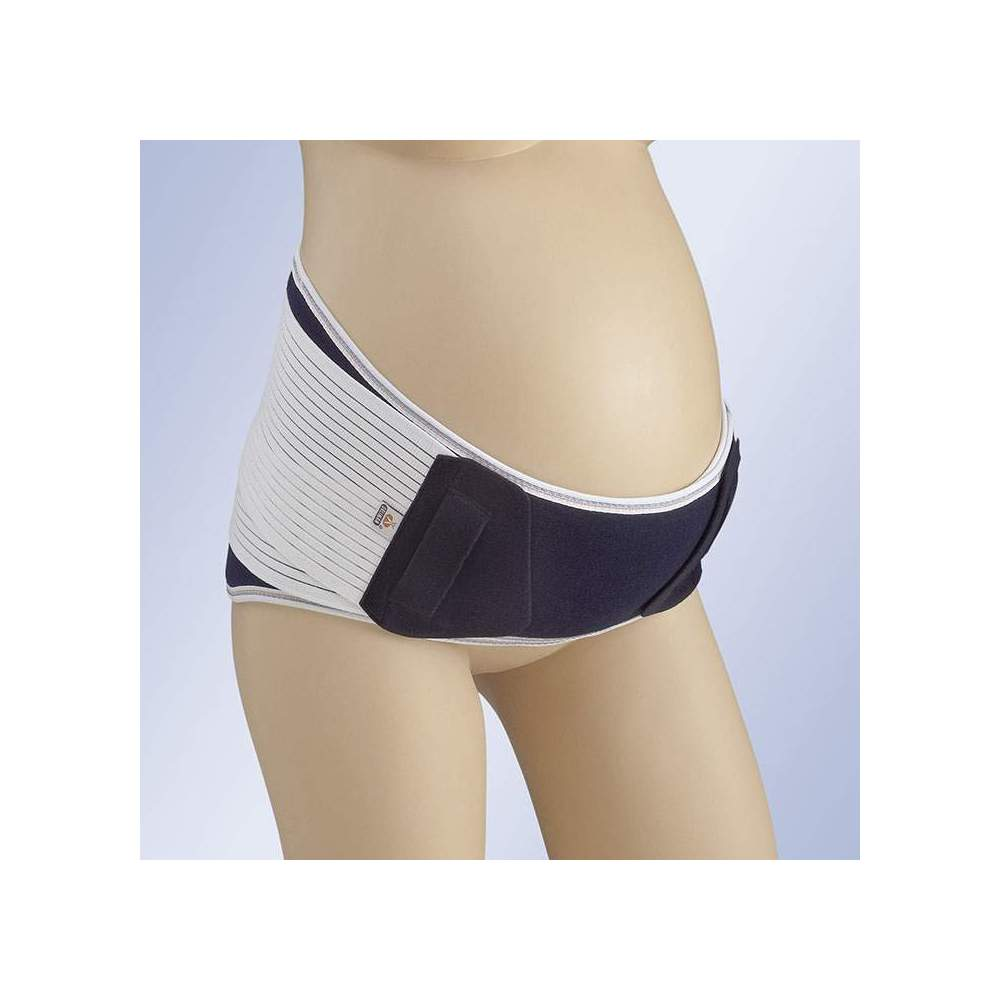 RAGAZZA INCINTA A-131 -  Corta cintura sacrolombare realizzata in tessuto elasticizzato multibanda e traspirante, incorpora le balene posteriori flessibili. Cinghie laterali elastiche per la...