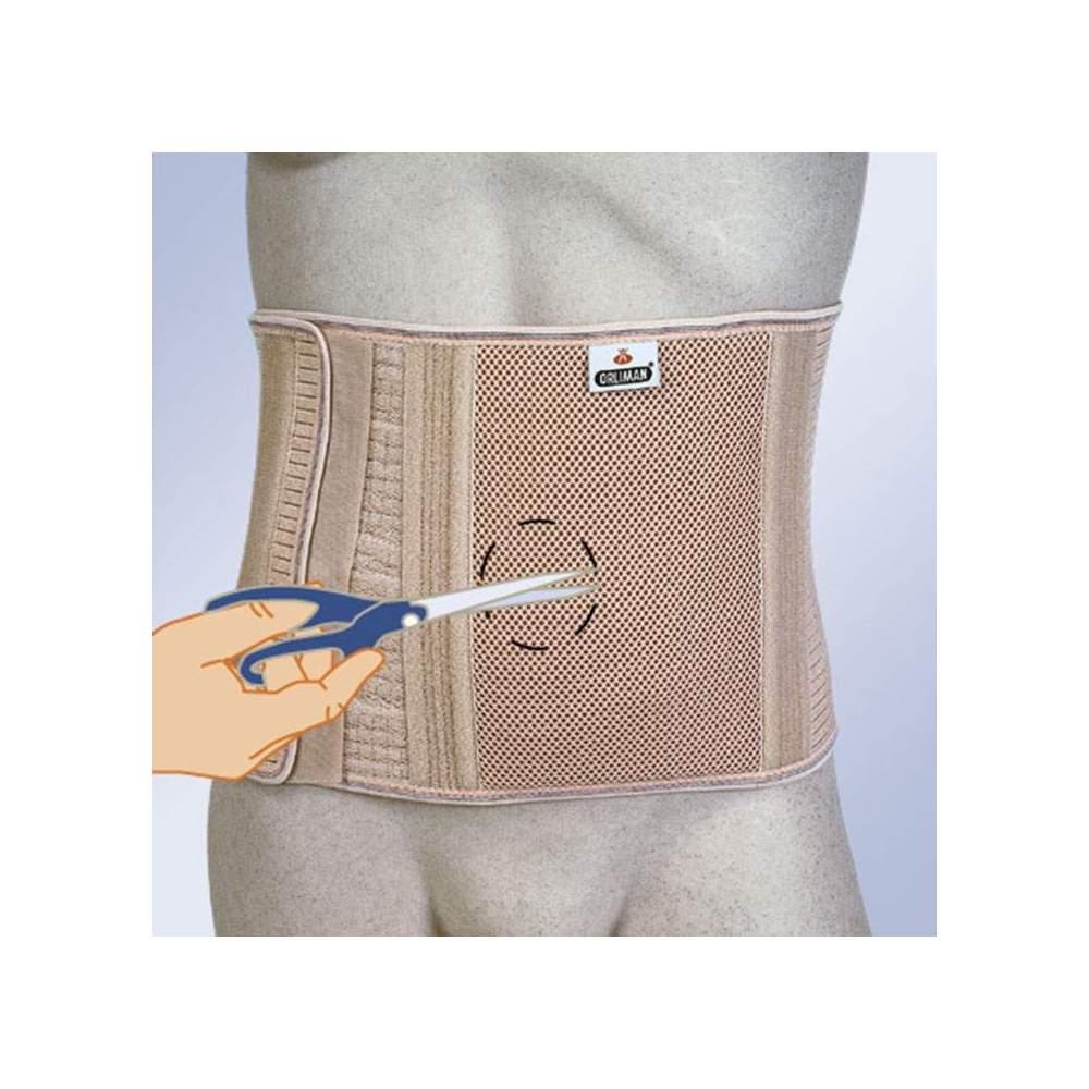 CINTURA ADDOMINALE PER OSTOMIZZATA SENZA FORI ALTI COL-240 -  Cintura realizzata con tessuto elastico associato a un pezzo rigido e indeformabile per un maggiore contenimento dell'area dello stoma. Ha 8 balene flessibili per evitare...