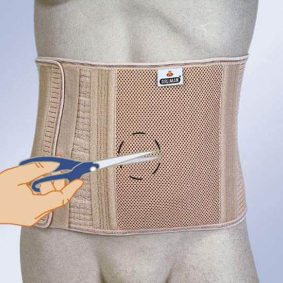 copy of ABDOMINAL BELT FOR OSTOMIZED WITHOUT HIGH HOLE COL-240 -  Girdle made with elastic fabric associated with a rigid and non-deforming piece for a greater containment of the stoma area. It has 8 flexible whales to avoid deformities of the garment.