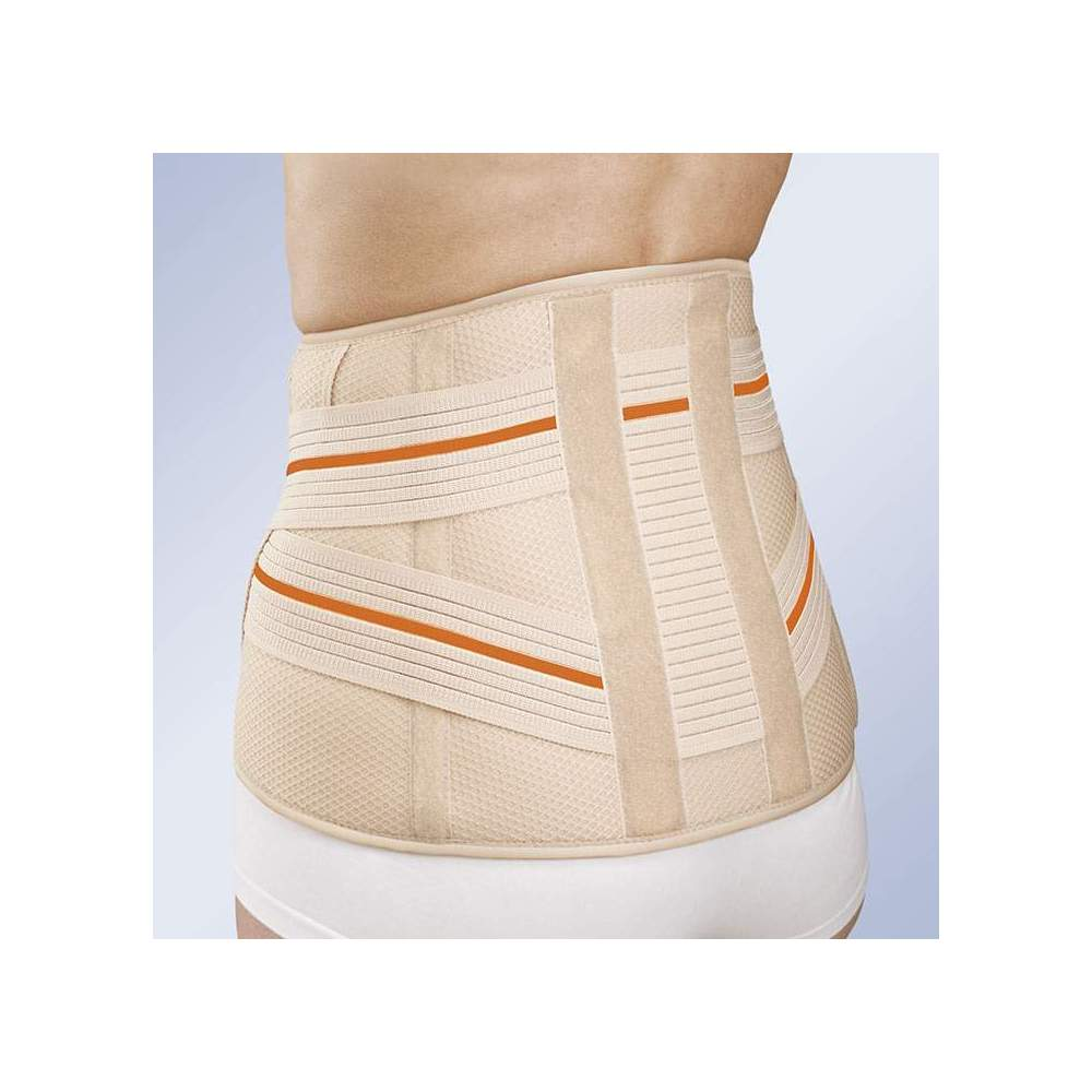 SHORT SACROLUMBAR BELT 3TEX LUMBO 6211 -  Made of three-layer fabric (cotton - foam - polyester), semi-rigid and breathable, specially designed for maximum breathability. Fastening system for easy and comfortable...