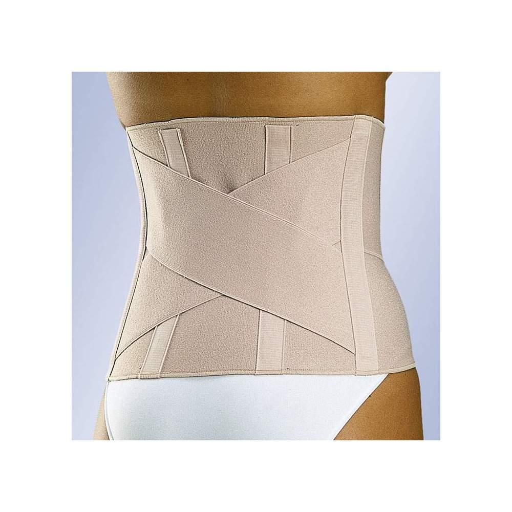 """FAJA SACROLUMBAR ELÁSTICA """"CLASSIC"""" - Faja confeccionada con tejido elástico muy resistente y duradero. Bandas cruzadas en la zona posterior y flejes flexibles. Cierre delantero con velcro"""
