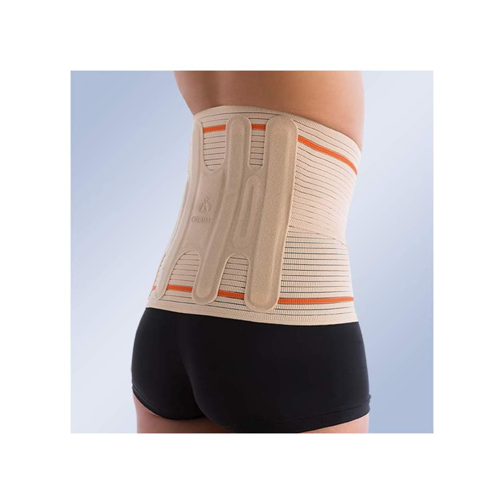 SEMIRRIGID BELT EVOTEC EV-201 -  Made with a very consistent elastic material that provides 50% more compression than conventionally used increasing lumbar support. Made with a technique of wireless seams,...