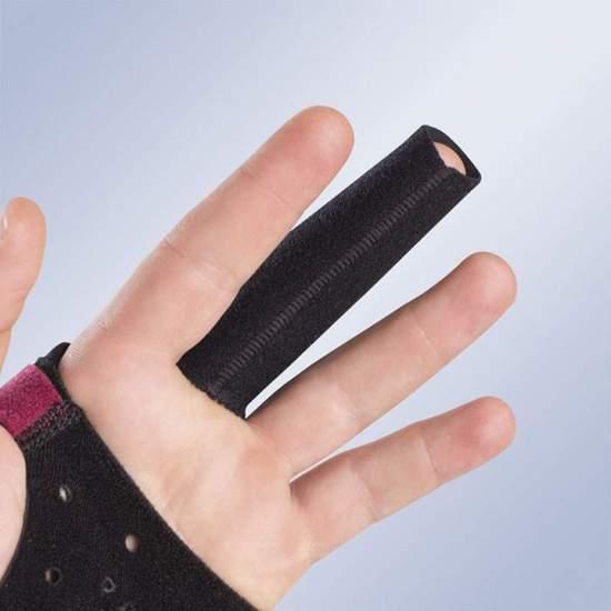 FRD10 SPLINT DE DEDO FECHADO -  Dedos fechados com splint para luva imobilizadora M710. Eles são pedidos individualmente por tamanho.