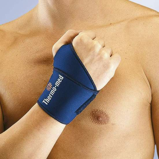 WRIST WRAPPING IN NEOPRENO ORLIMAN -  Wristband made of 2 mm neoprene. Special bandage with Velcro closure that allows its use in both right and left hand.