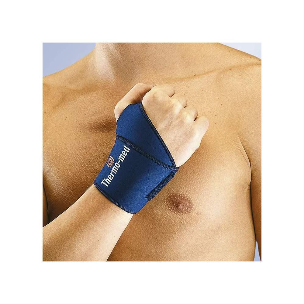 WRIST WRAPPING EN NEOPRENO ORLIMAN -  Bracelet en néoprène de 2 mm. Bandage spécial avec fermeture velcro permettant son utilisation à droite et à gauche.