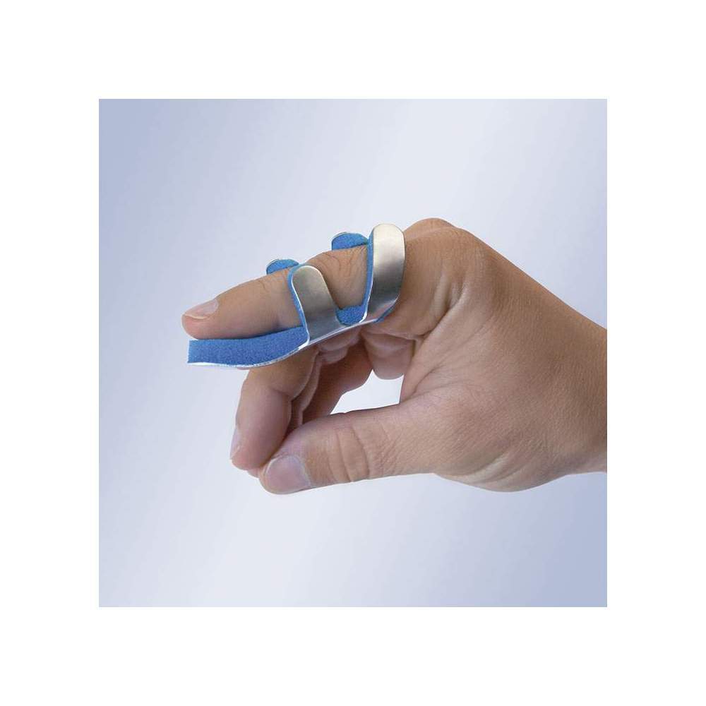 FROG FROG OM6201 -  Made of malleable aluminum and lined inside allows easy adaptation to any finger without locking systems. Does not save side. The foam prevents sweating of the area.