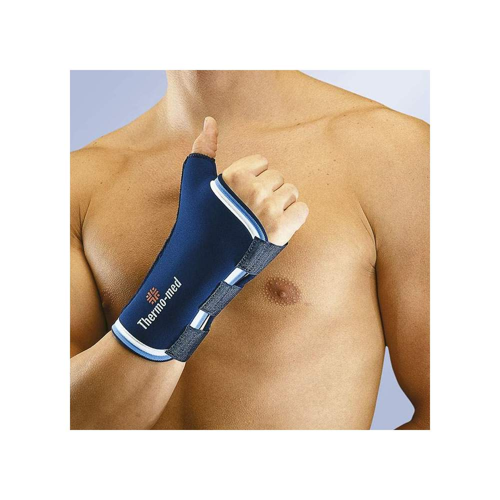 PULGAR WRISTBAND IN NEOPRENO ORLIMAN -  Wristband in 3 mm neoprene. With velcro closure and moldable thumb splint.