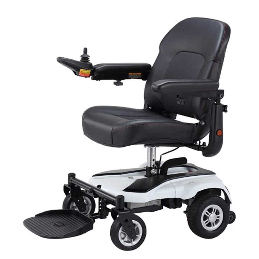 Sedia a rotelle elettrica R120 - Nuovo modello -  La sedia elettrica R120 rappresenta la nuova generazione di sedie elettriche compatte e leggere. Nuovo modello  Codice di pagamento 12212703
