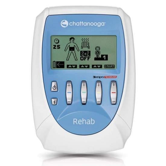 Rehab de Chattanooga - O eletroestimulador de Chattanooga Rehab é um estimulador de 4 canais desenvolvido para todos os profissionais que requerem uma eletroestimulação padrão.