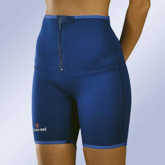 MIDDLE NEOPRENE PANTS HEIGHT 4700 -  Pants made of 2 mm neoprene ideal for sports. Front zip closure for easy adaptation.