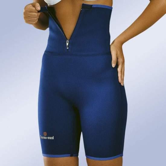 PANTALONI IN ALTO NEOPRENE -  Pantaloni realizzati in neoprene da 2 mm. ideale per lo sport. Con un'altezza sufficiente per riscaldare i muscoli lombari e aumentare la sudorazione in quest'area. Chiusura frontale con zip per un facile adattamento.