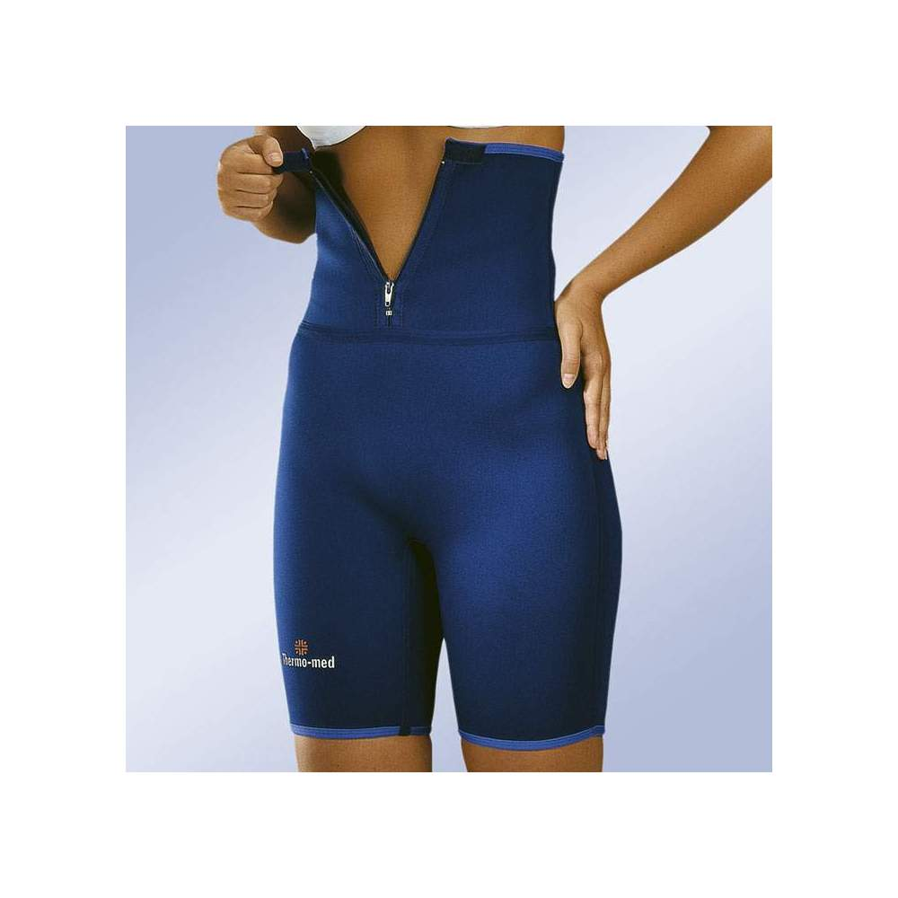 HIGH NEOPRENE PANTS -  Pants made of 2 mm neoprene. ideal for practicing sports. With a sufficient height to warm the lumbar muscles and increase sweating in this area. Front zip closure for easy...