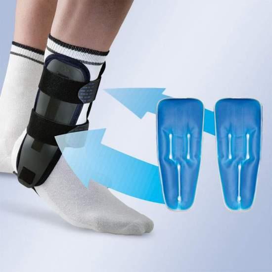 VALTEC-GEL BIVALVE TORNOZE ORTESIS COM SACOS DE GEL ORLIMENSE -  Órtese de tornozelo bivalve em termoplástico rígido, equipada com almofada interna de espuma com memória e sacos de gel para terapia fria. O design da órtese permite usá-la apenas com almofadas de espuma ou, no caso de estarmos...